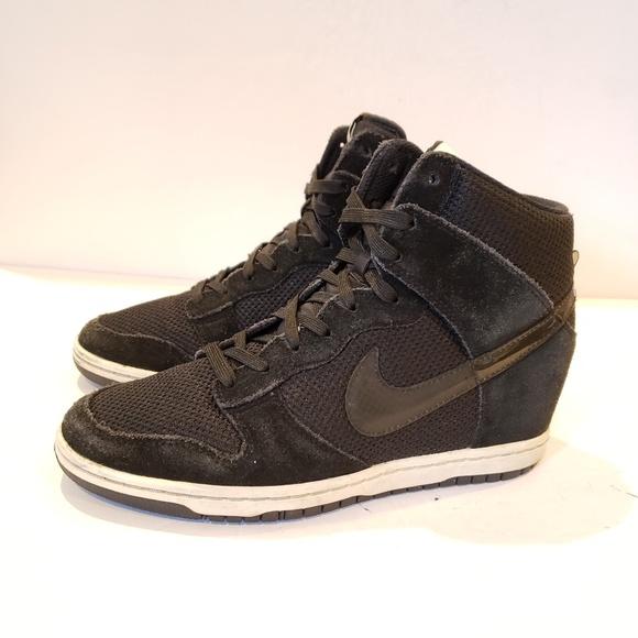 Nike Dunk Sky Hi BlackSailGum Med BrownBlack Women's High